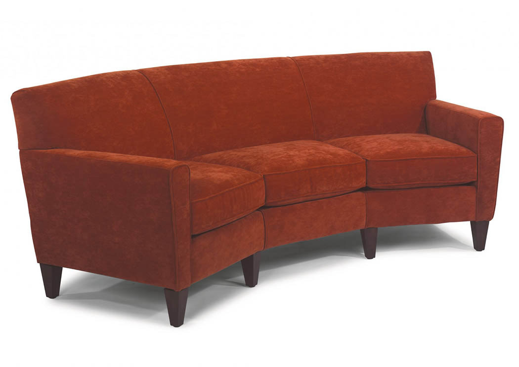 V. Watts Furniture Digby Leather Conversation Sofa