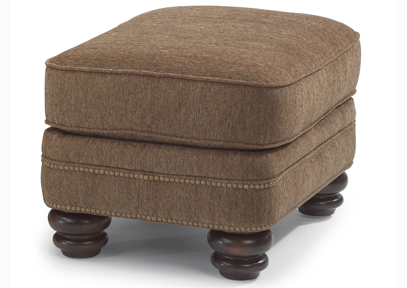Fabulous V Watts Furniture Bay Bridge Fabric Ottoman W Nailhead Trim Evergreenethics Interior Chair Design Evergreenethicsorg