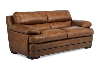 Dylan Leather Two-Cushion Sofa