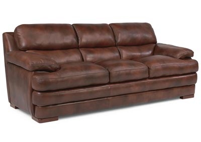 Dylan Leather Three-Cushion Sofa