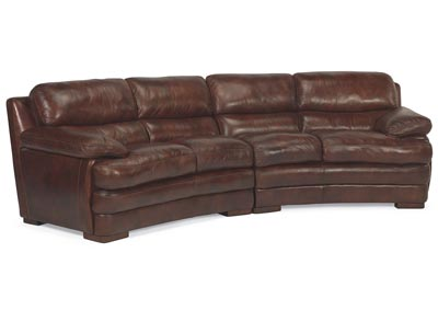 Dylan Leather Conversation Sofa
