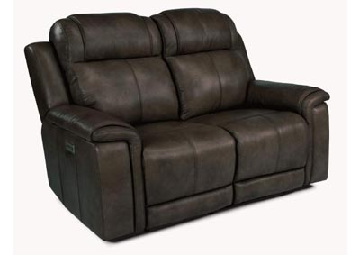 Image for Kingsley Dark Brown Power Reclining Loveseat with Power Headrests