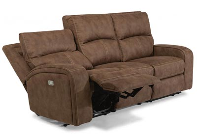 Rhapsody Fabric Power Reclining Sofa w/Power Headrests
