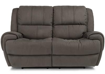 Nance Fabric Power Reclining Loveseat w/Power Headrests