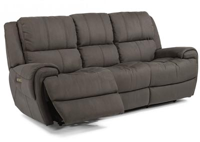 Nance Fabric Power Reclining Sofa w/Power Headrests