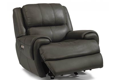 Nance Leather Power Gliding Recliner w/Power Headrest