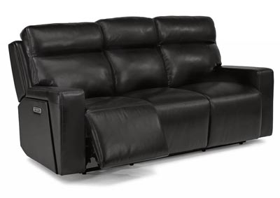 Niko Leather Power Reclining Sofa w/Power Headrests