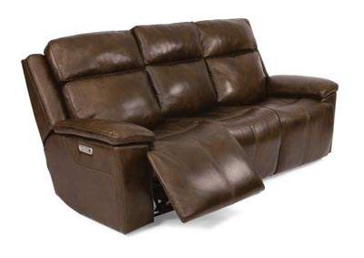 Image for Chance Brown Power Reclining Sofa with Power Headrests