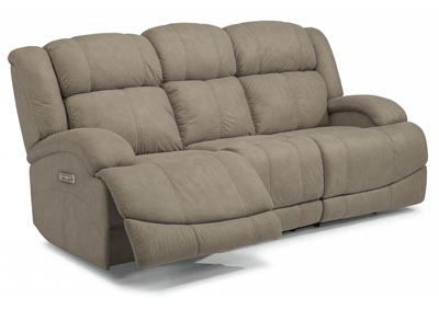 Declan Fabric Power Reclining Sofa w/Power Headrests