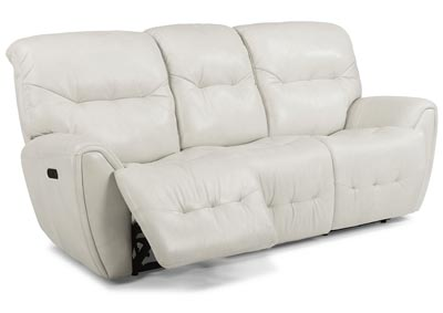 Blaise Leather Power Reclining Sofa w/Power Headrests