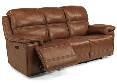 Fenwick Leather Power Reclining Sofa w/Power Headrests