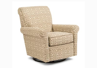 Plaza Fabric Swivel Glider