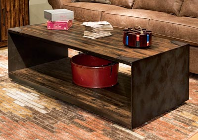 Flat Iron Rectangular Coffee Table