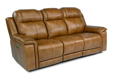 Image for Kingsley Medium Brown Power Reclining Sofa with Power Headrests