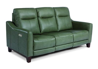 Image for Forte Green Power Reclining Sofa with Power Headrests