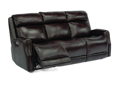 Image for Stanley Dark Brown Power Reclining Sofa with Power Headrests