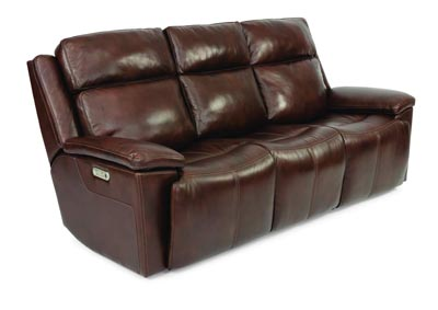 Image for Chance Dark Brown Power Reclining Sofa with Power Headrests