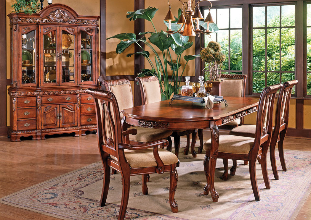 RBS Furniture   Bronx, NY Cherry Dining Set (Table, 4 Side ...