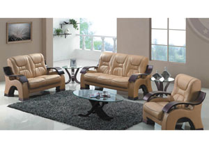 Honey Bonded Leather Sofa