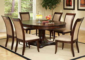 Cherry Dining Table w/ 6 Side Chairs