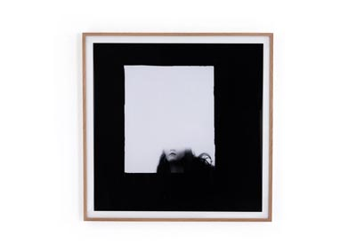 Image for Natural Oak + Acrylic Shadow Box + Photo Paper Art Studio Face Gone By Annie Spratt Framed Paper-V