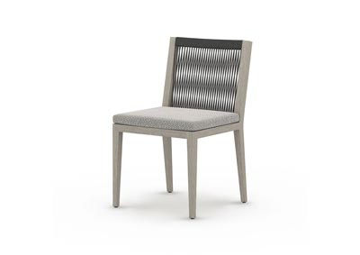 Image for Faye Ash + Weathered Grey + Dark Grey Rope Solano Sherwood Outdoor Dining Chair, Weathered Grey