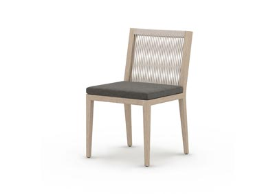 Image for Washed Brown + Charcoal + Grey Rope Solano Sherwood Outdoor Dining Chair, Washed Brown
