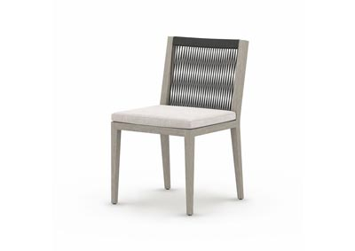 Image for Weathered Grey + Dark Grey Rope + Stone Grey Solano Sherwood Outdoor Dining Chair, Weathered Grey