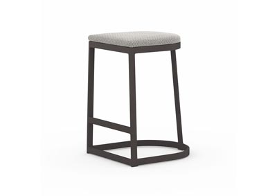 Image for Bronze + Washed Brown + Faye Ash Solano Val Outdoor Bar + Counter Stool
