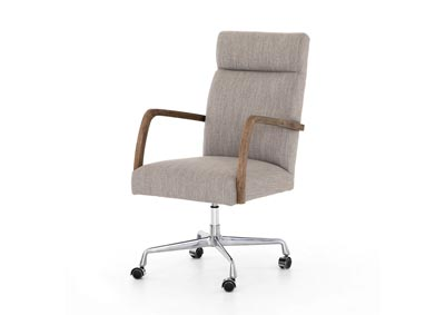 Image for Savile Flannel + Stainless Steel + Distressed Nettlewood Abbott Bryson Desk Chair