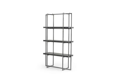 Image for Bluestone + Brushed Gunmetal Hughes Putnam Bookshelf-Bluestone