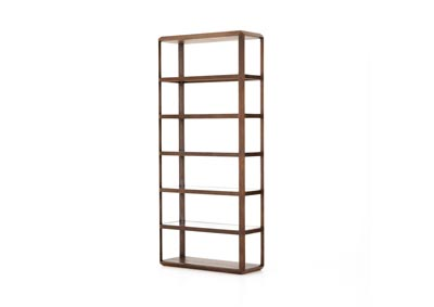 Image for Acorn + Tempered Glass Hughes Emilio Bookshelf-Acorn