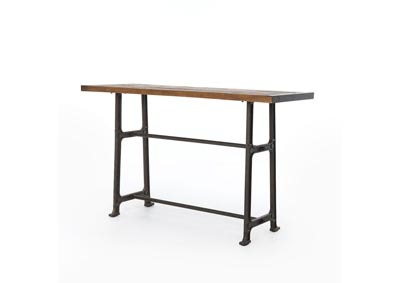 Image for Vintage Mid Grey + Bleached Oak Hughes Alistair Bar Table