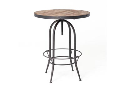 Image for Rustic Black + Waxed Bleached Pine Hughes Bristol Pub Table-Rustic Black
