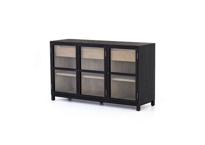Image for Drifted Oak + Drifted Black + Clear Glass Irondale Millie Sideboard-Drifted Black