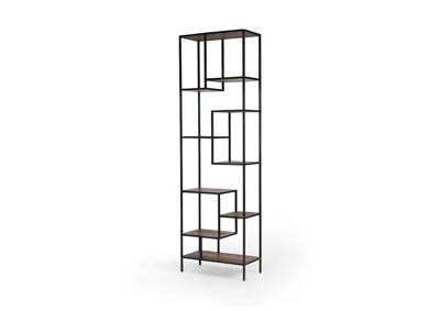 Image for Waxed Black + Antique Bleach Sealed Irondale Helena Bookcase