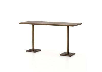 Image for Aged Brass + Acid Etched Aged Brass Element Fannin Large Bar + Counter Table