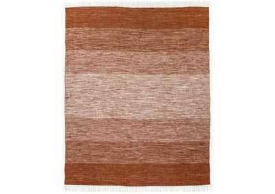 Image for Ombre Rust Nomad Loma Outdoor Rug, 5X8'-Rust