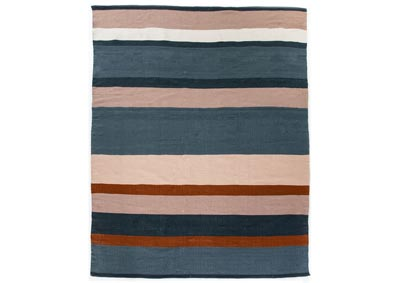 Image for Navy, Orange, Blush Nomad Senna Navy Outdoor Rug