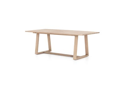 Image for Washed Brown Solano Atherton Outdoor Dining Table