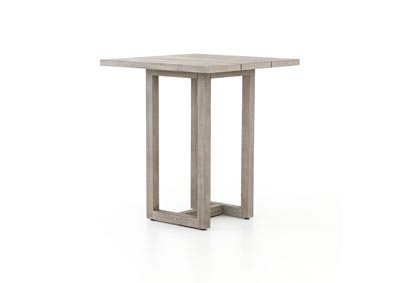 Image for Weathered Grey Solano Stapleton Square Outdoor Bar Table