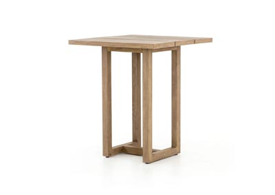 Image for Washed Brown Solano Stapleton Square Outdoor Bar Table