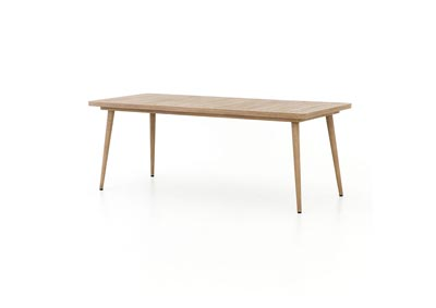 Image for Washed Brown Solano Hansen Outdoor Dining Table