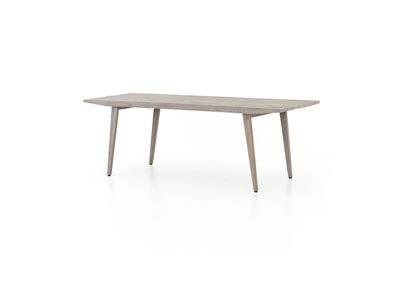 Image for Weathered Grey Solano Hansen Outdoor Tapered Dining Table