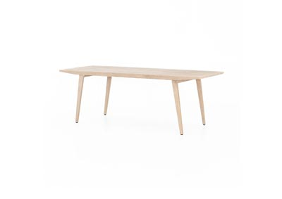 Image for Washed Brown Solano Hansen Outdoor Tapered Dining Table