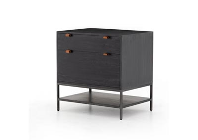 Image for Natural Iron + Toffee Leather + Black Wash Poplar Fulton Trey Modular Filing Cabinet