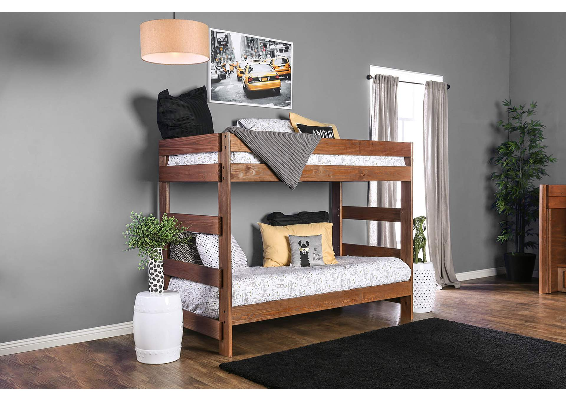 Arlette Twin/Twin Bunk Bed,Furniture of America