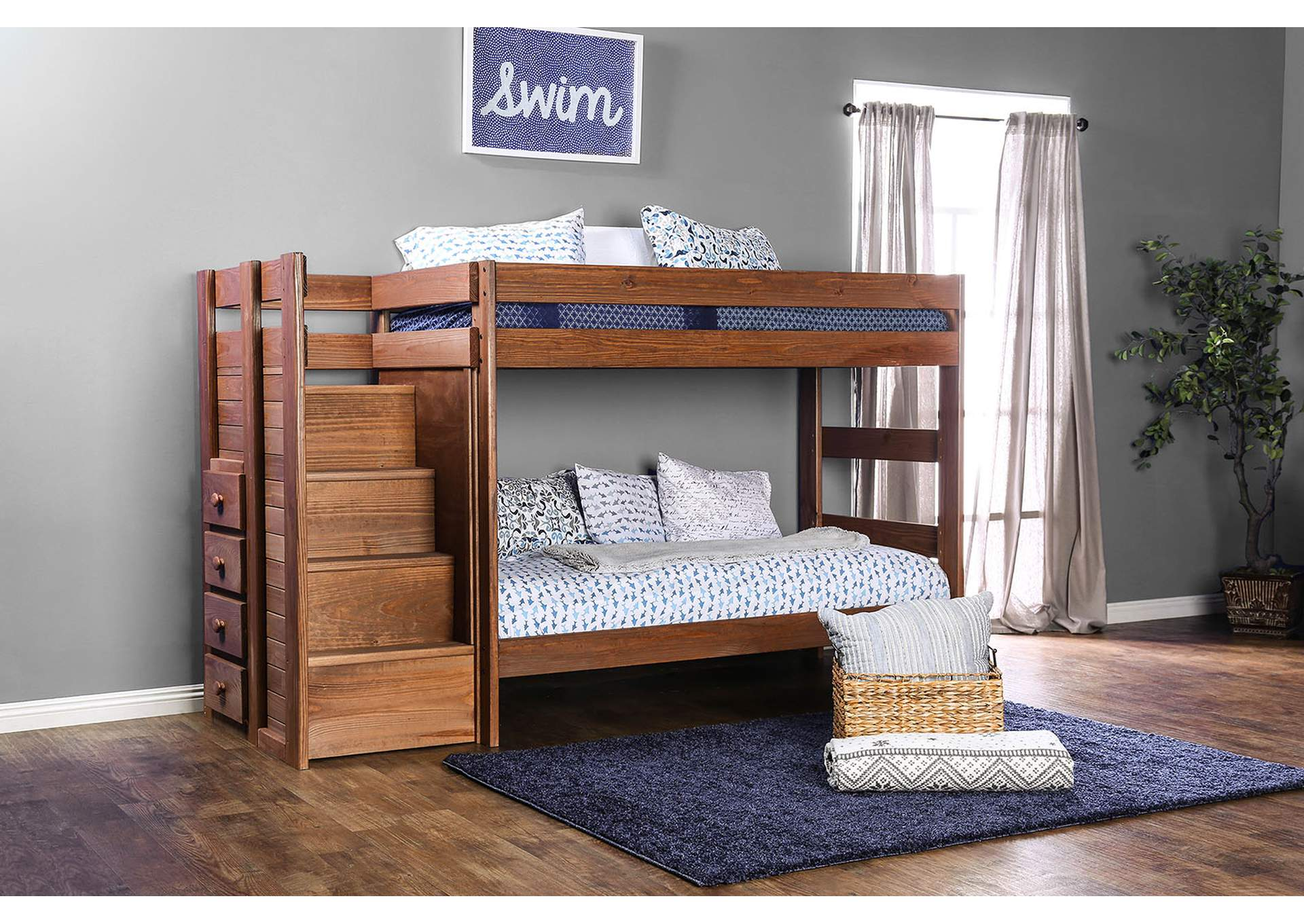 Best Buy Furniture And Mattress Ampelios Twin Twin Bunk Bed