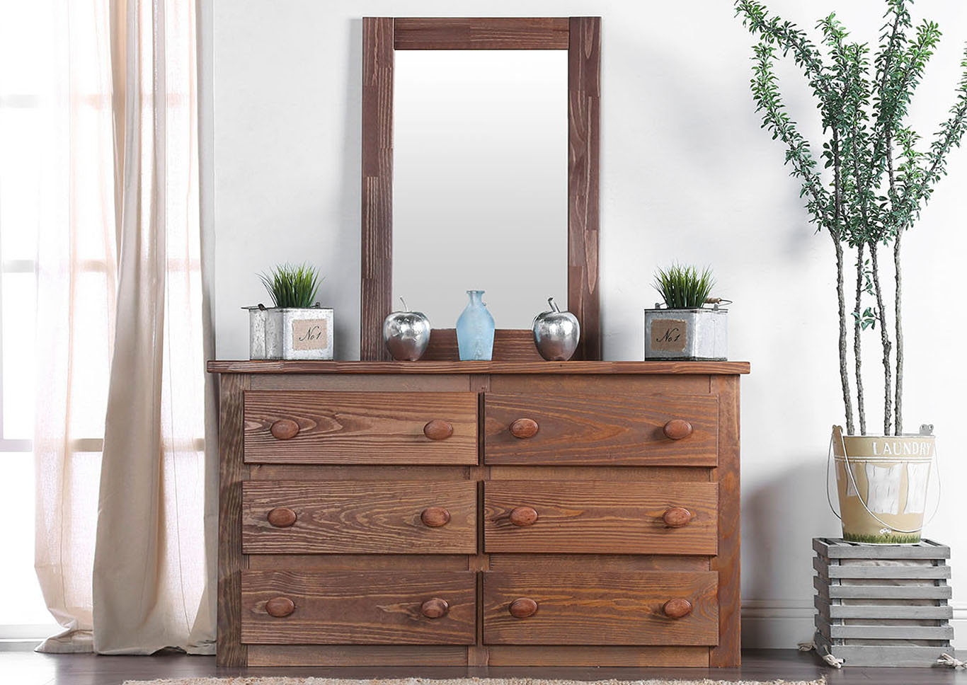 Lea Dresser w/Mirror,Furniture of America