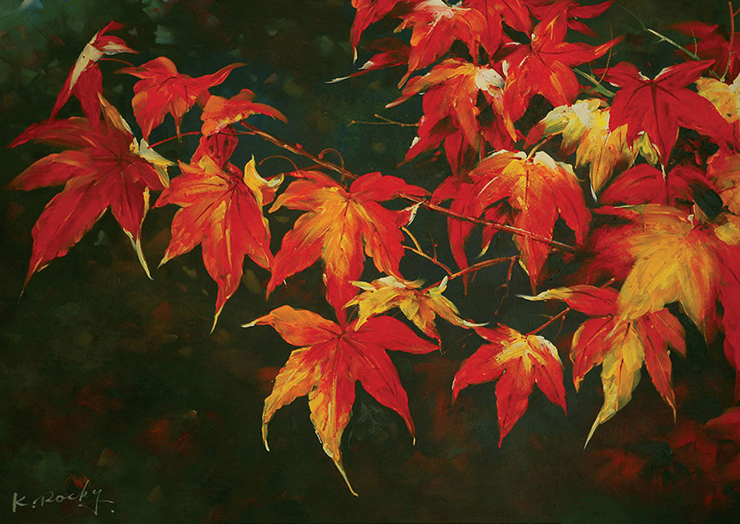 Feeling Of Autumn Printed Canvas Painting,Furniture of America
